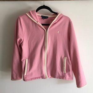 Polo pink hoodie  zippered sweatshirt